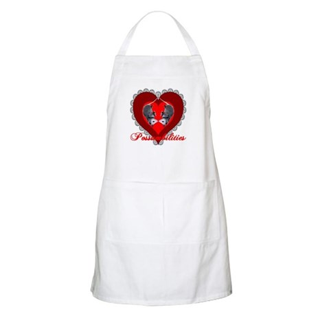Possumbilities Valentines Day BBQ Apron