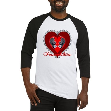 Possumbilities Valentines Day Baseball Jersey