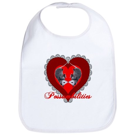 Possumbilities Valentines Day Bib
