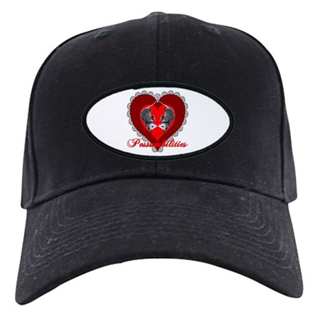 Possumbilities Valentines Day Black Cap