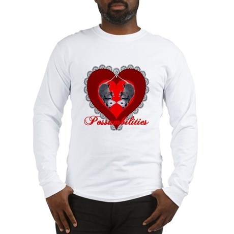 Possumbilities Valentines Day Long Sleeve T-Shirt