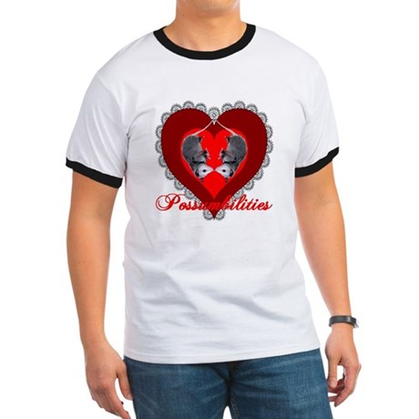 Possumbilities Valentines Day Ringer T