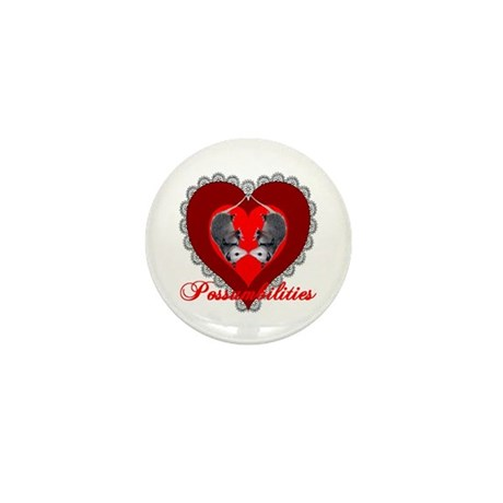 Possumbilities Valentines Day Mini Button