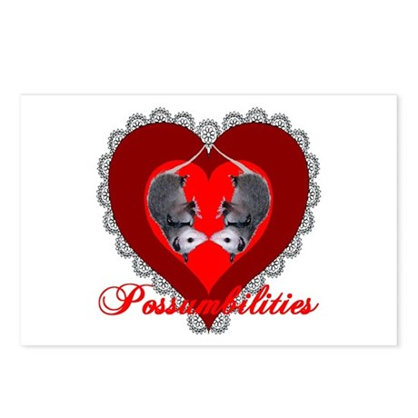Possumbilities Valentines Day Postcards (Package o