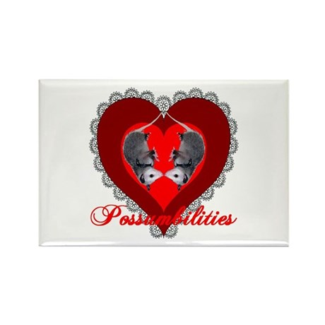 Possumbilities Valentines Day Rectangle Magnet (10