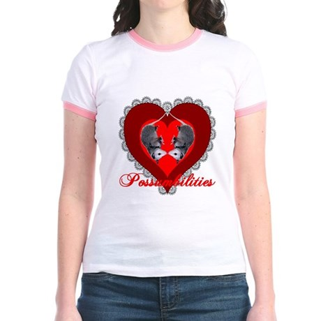 Possumbilities Valentines Day Jr. Ringer T-Shirt