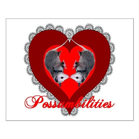 Possumbilities Valentines Day Small Poster