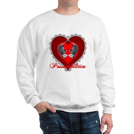 Possumbilities Valentines Day Sweatshirt