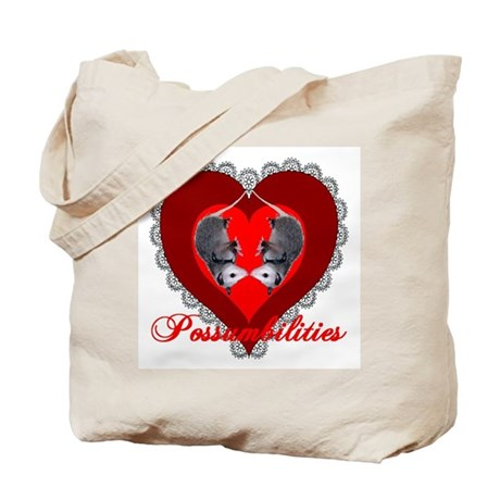 Possumbilities Valentines Day Tote Bag