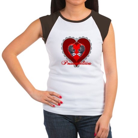 Possumbilities Valentines Day Women's Cap Sleeve T