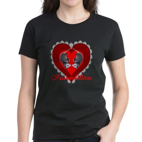Possumbilities Valentines Day Women's Dark T-Shirt
