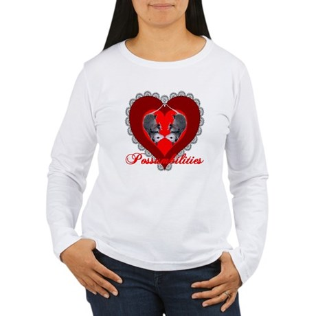 Possumbilities Valentines Day Women's Long Sleeve