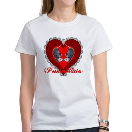 Possumbilities Valentines Day Women's T-Shirt