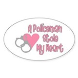 Policeman Stole My Heart Oval Decal