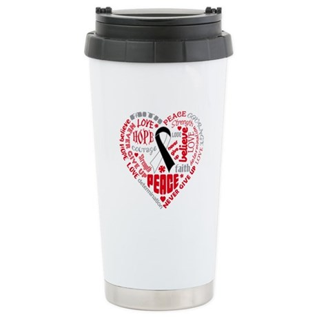 Carcinoid Cancer Heart Words Ceramic Travel Mug