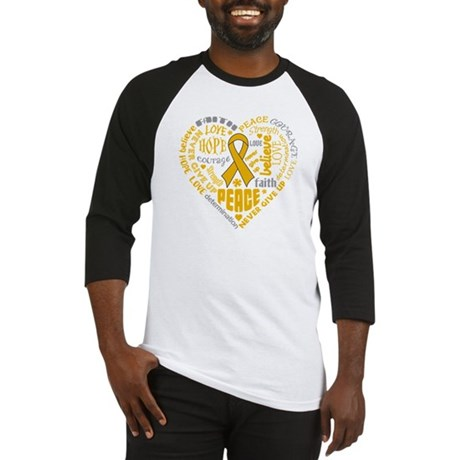 Appendix Cancer Heart Words Baseball Jersey