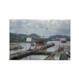 Panama: Miraflores Locks at t Rectangle Magnet