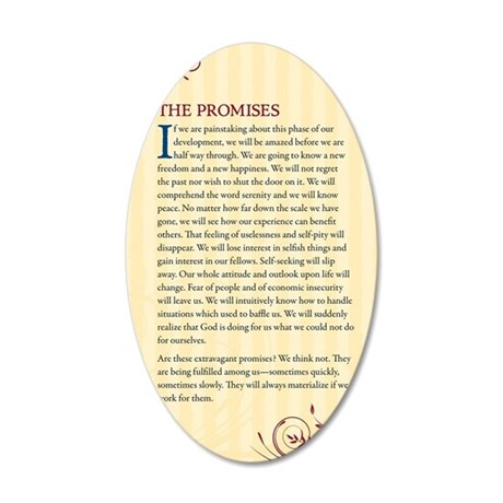 The Promises 35x21 Oval Wall Decal