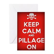 Keep Calm Pirate Motto Greeting Card