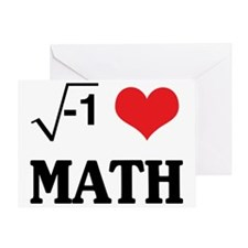 I Love Math (Equation) Greeting Card