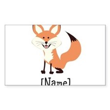 Personalized Fox Decal