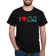 I Heart House Music (Color) T-Shirt