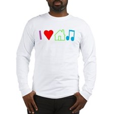 I Heart House Music (Color) Long Sleeve T-Shirt