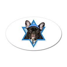 Hanukkah Star of David - Frenchie 20x12 Oval Wall