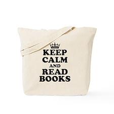Keep Calm Read Books Tote Bag