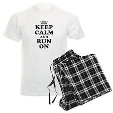 Keep Calm Run On Pajamas