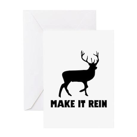 Make It Rein Greeting Card