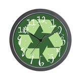 Reduce, Reuse, Recycle Wall Clock