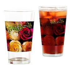 roses framed print Drinking Glass