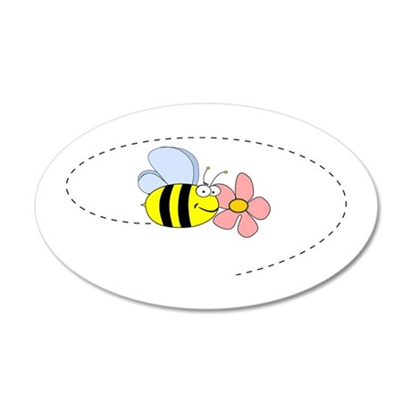 Bee and Flower Wall Decal