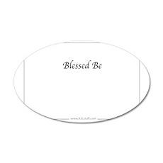 BlessedBeHzASLstuffInside 35x21 Oval Wall Decal