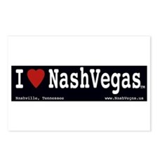 I Love NashVegas Postcards (Package of 8)