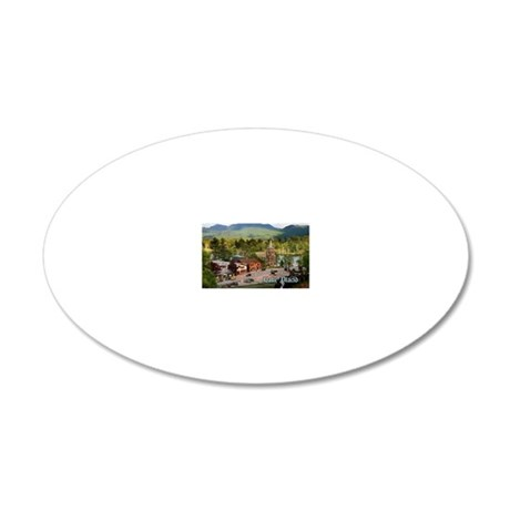 LakePlacidS magnet 20x12 Oval Wall Decal
