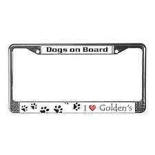 Golden Retriever License Plate Frame