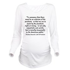 t_r_to_announce Long Sleeve Maternity T-Shirt