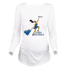 CatchingFAAA Long Sleeve Maternity T-Shirt