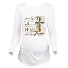 2-Picture Frame Long Sleeve Maternity T-Shirt