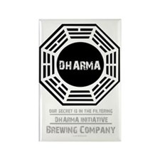 Dharma Beer for dark shirt Rectangle Magnet