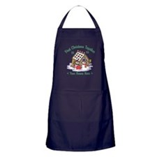 Personalize First Christmas Together Apron (dark)