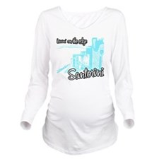 santorini8 Long Sleeve Maternity T-Shirt