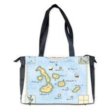 Galapagos Map Diaper Bag