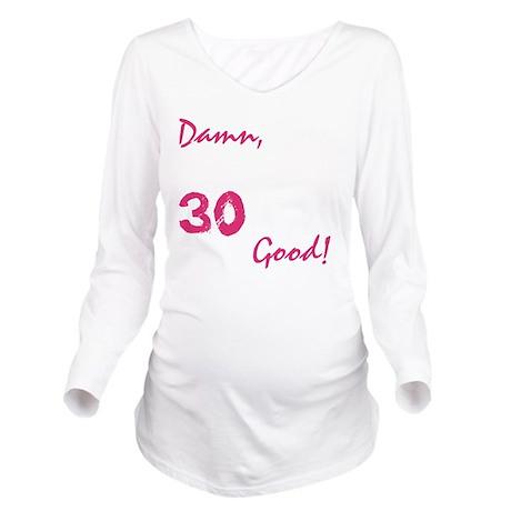 good30_dark Long Sleeve Maternity T-Shirt