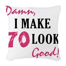 good70_light Woven Throw Pillow