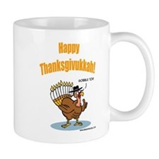 Happy Thanksgivukkah Turkey Coffee Mug