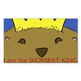 WOMBAT KING sticker