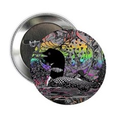 "Wild Rainbow Loon 2.25"" Button (10 pack)"